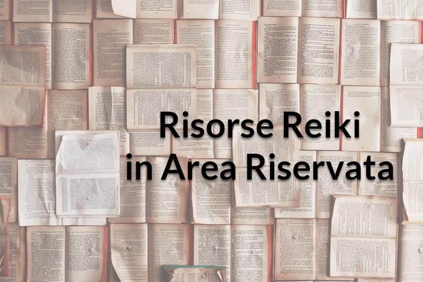 Risorse Reiki in Area Riservata